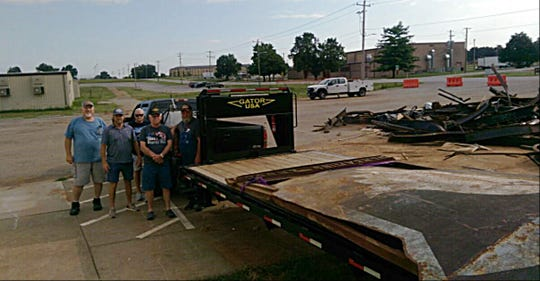 The large, metal 101st Airborne Screaming Eagles sign was recently rescued by the Dickson VFW Post 4641.