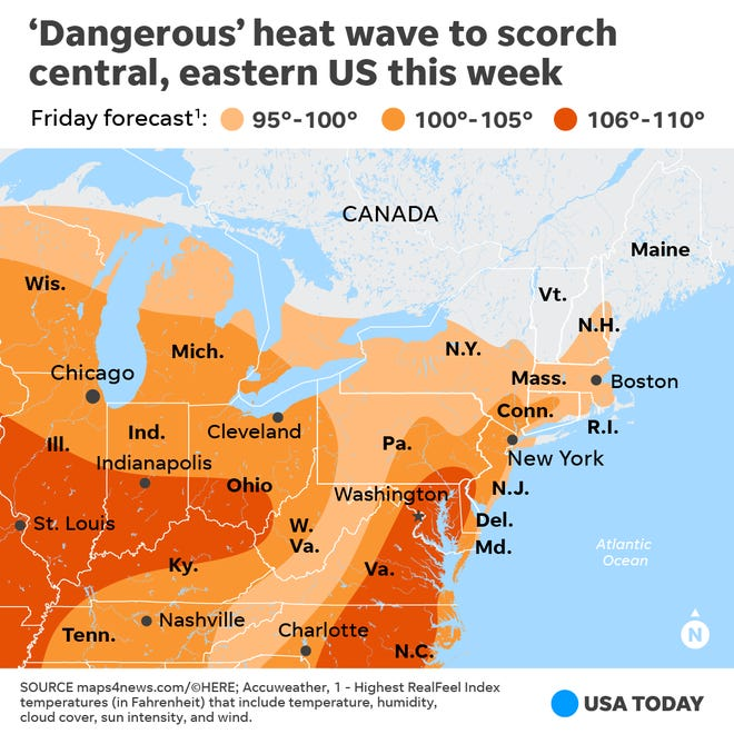 Heat wave expected to scorch Central, Eastern U.S.