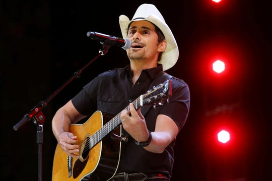 Country music star Brad Paisley performs in this file photo.