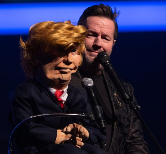 Terry Fator and The Donald, one of his creations