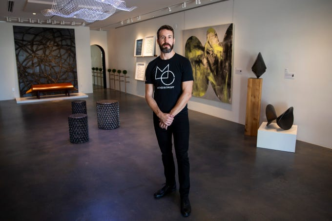 Director Chad Jensen poses for a portrait at Method & Concept in Naples on Wednesday, July 17, 2019. The Naples Design District will hold a Design Crawl on Thursday, July 25, to showcase the businesses in the area during the off season.