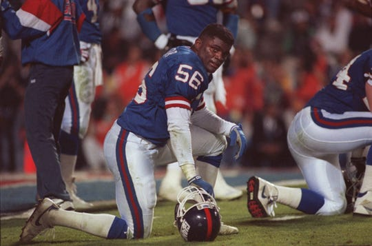 Tampa, Florida 1/27/91 Super Bowl XXV -  Giants Lawrence Taylor. Record File Photos