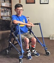 Jacob Avalos, 13, talks about cerebral palsy and his life at his home in Mesilla Park on Tuesday, Jan. 16, 2019, two days before scheduled surgery to loosen his leg muscles, allowing him to have more mobility.