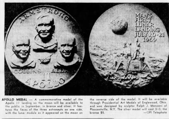 Apollo Medals were made available to the public.