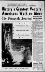The cover of the Pensacola News Journal on Monday, July 21, 1969.