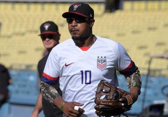 Arizona Diamondbacks' Adam Jones could draw interest before the MLB trade deadline.