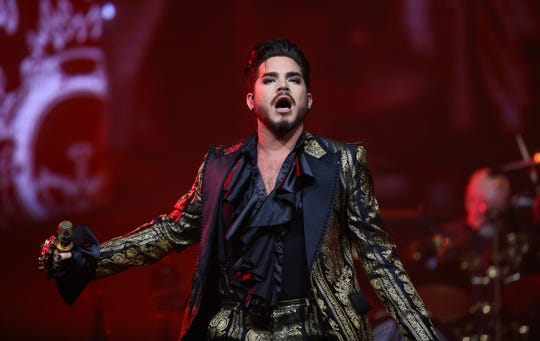 Adam Lambert of Queen + Adam Lambert perform during their Rhapsody Tour at Talking Stick Resort Arena on July 16, 2019 in Phoenix, Ariz.