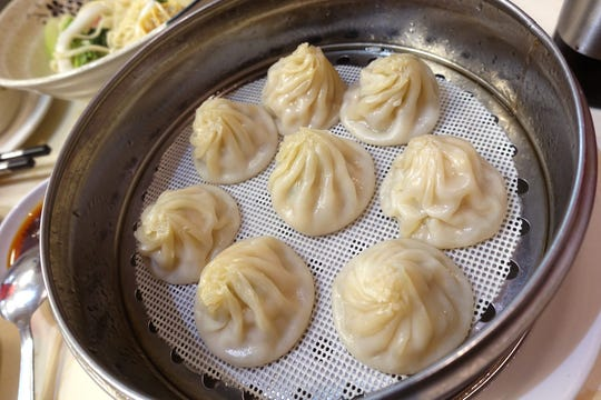 Xiao long bao with pork and scallions at Happy Bao's in Mesa.
