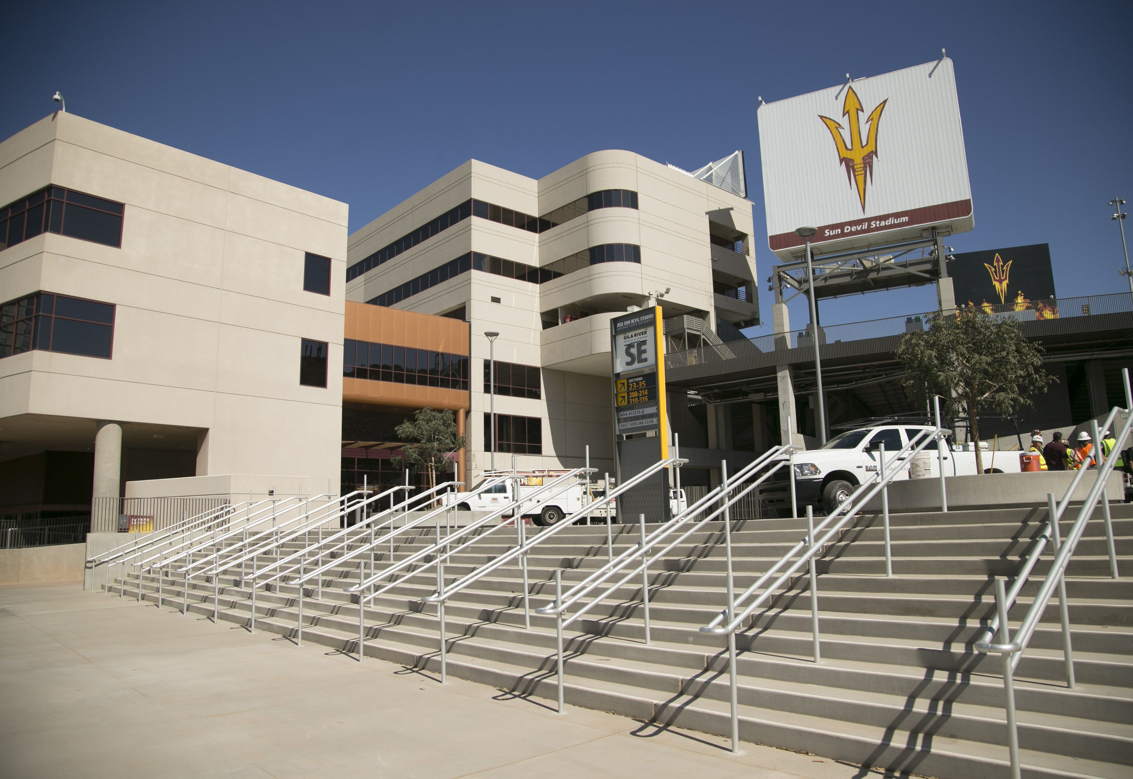 The new southeast side of Sun Devil Stadium in Tempe on Friday, August 31, 2018. ASU's season opener is at Sun Devil Stadium against University of Texas at San Antonio on Saturday, September 1.