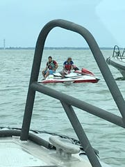 An undocumented immigrant fishing from a jet ski in Lake Erie was arrested by federal agents earlier this week.