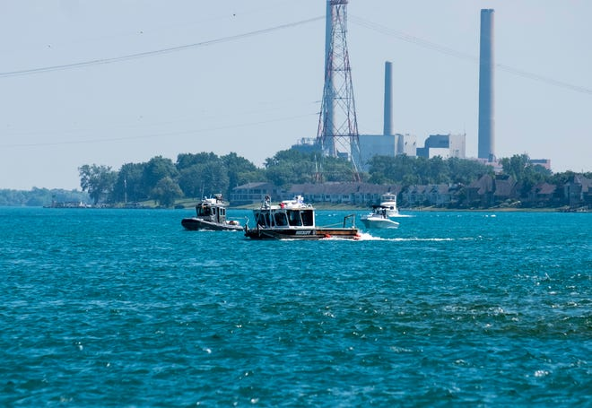 The St. Clair County Sheriff's dive team works the St. Clair River south of the Cargill Salt plant Wednesday, July 17, 2019. Riley Gleason was last seen in the river Friday evening and is presumed drowned.