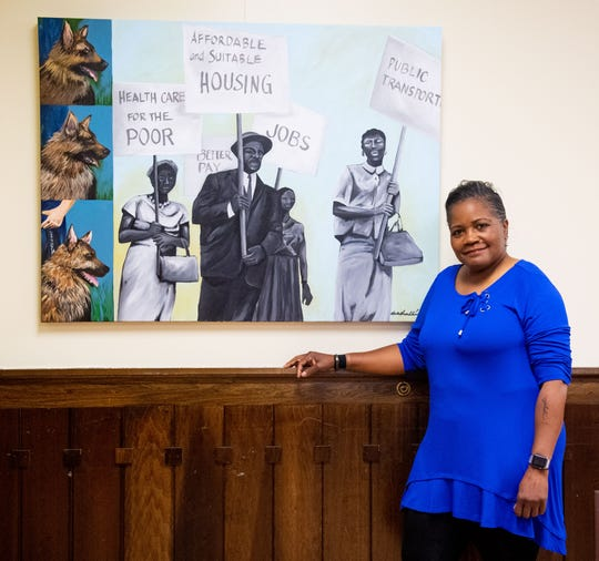 "Artist Ophelia Chambliss is showing her exhibit, entitled: ""Casting Shadows: a Visual Exhibition and Celebration of York's Black American History."""