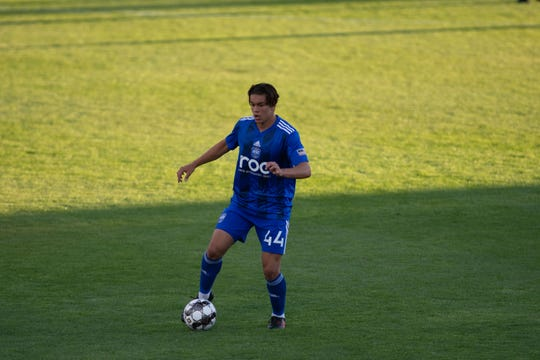 Cade Cowell plays for Reno 1868 FC vs. Sacramento Republic FC at Greater Nevada Field on June 29, 2019.