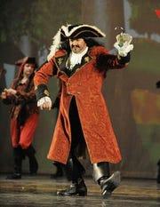 "Captain Hook in ""Peter Pan."""