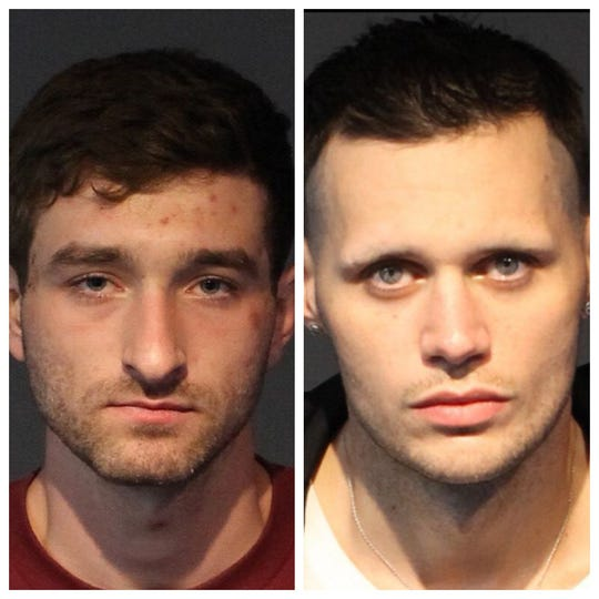 Brandon Orthwein, 23, (left) and Jacob Woodhouse, 29, were both arrested in connection to a recent shooting that involved a Sparks police detective. All arrested are innocent until proven guilty.