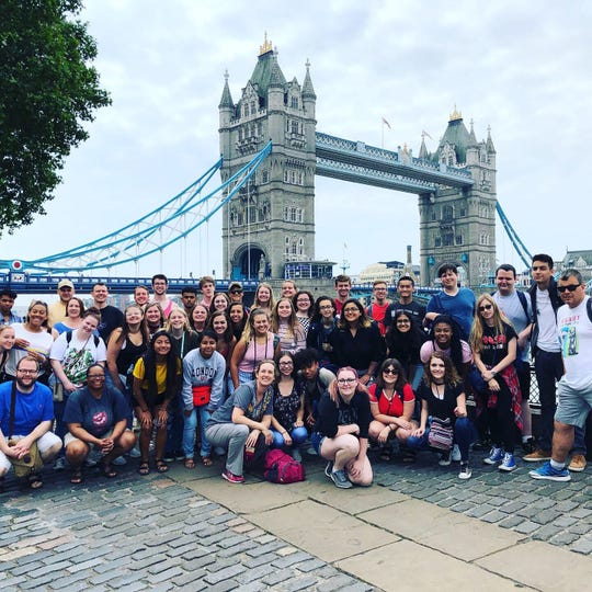 Group at Tower Bridge in London