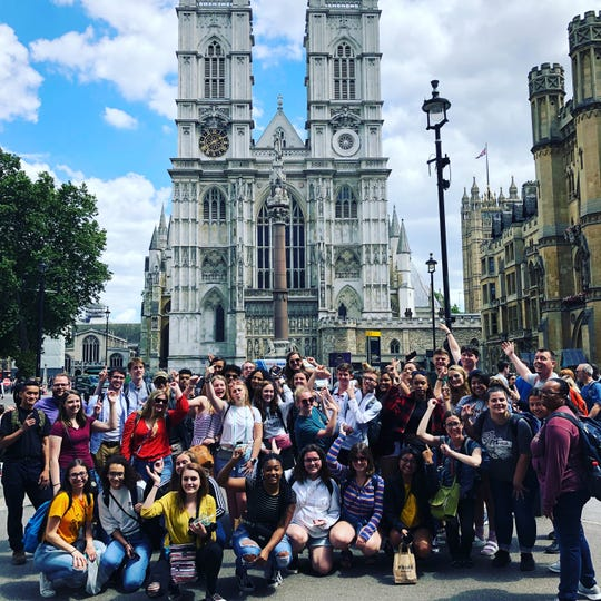 Group at Westminster Abbey