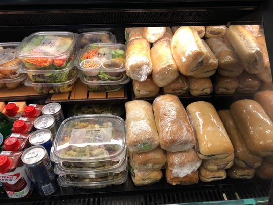 Some of the salads and sandwiches at Pagato at Mercy in west Redding.