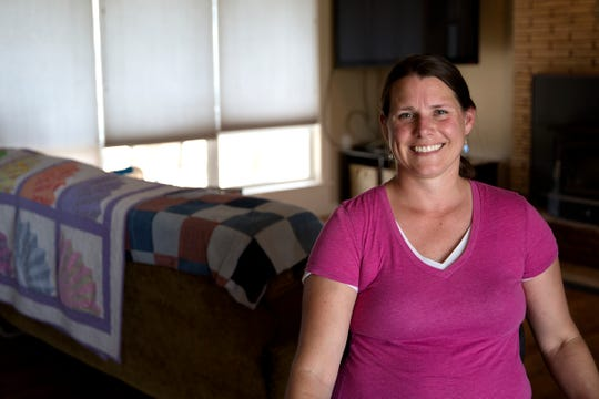 Heidi Schindler is pictured at her home in Silverton on July 16, 2019. Schindler was forced to leave when a sewer system backed up into her home.
