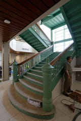 A view of the vintage staircase at Sheboygan City Hall, Wednesday, July 17, 2019 in Sheboygan, Wis.