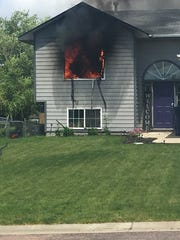 Robin Davis' home was a complete loss inside after a fire in Baltic on June 20.