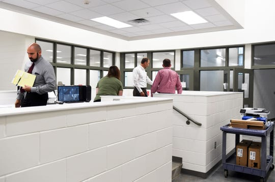 The Minnehaha County Jail is nearly ready to house inmates in the new fifth-floor addition Wednesday, July 17, in Sioux Falls. Furniture was moved in recently and last-minute preparations are underway.