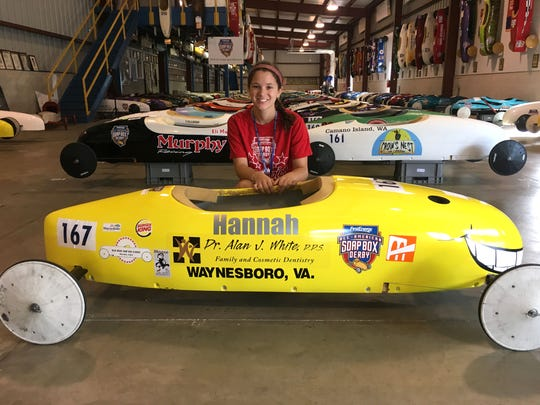 Hannah Mullen will be part of the All-American Soap Box Derby Saturday in Akron, Ohio. The 16-year-old Wilson Memorial student is in the super stock division.