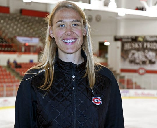 Molly Engstrom was named the newest assistant coach for the SCSU women's hockey team on Wednesday, July 17, 2019. Engstrom was a two-time Olympian in her playing career.