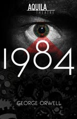 "The promotional poster for Aquila Theatre's production of ""1984."""