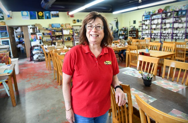 Art As You Like It owner Charlene Ridlon stands in the art studio Wednesday, July 17, 2019, in Waite Park. Ridlon has announced that the business will close later this summer after operating for 16 years.
