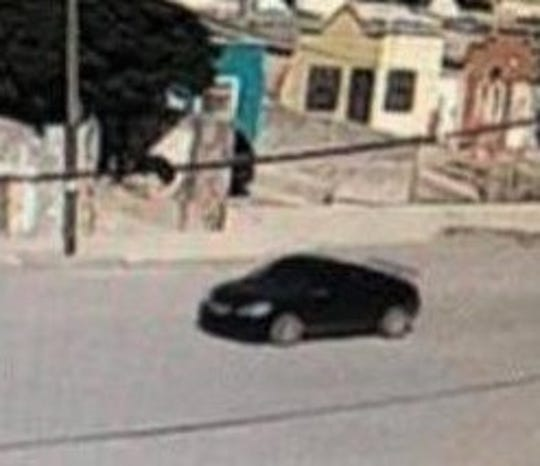 A security camera recorded a car matching a vehicle allegedly used by a La Linea hit squad at the scene of a fatal shooting in Juárez, Mexico, on July 9, 2019.