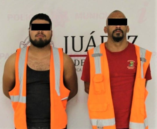 Juárez police arrested alleged members of a La Linea crime organization hit squad suspected in 22 murders within 10 days in July 2019.
