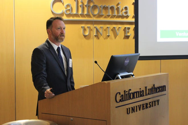 Tony Biasotti, author of the Ventura County Civic Alliance's 2019 State of the Region Report released Wednesday, gave an overview of it at a breakfast at California Lutheran University in Thousand Oaks.