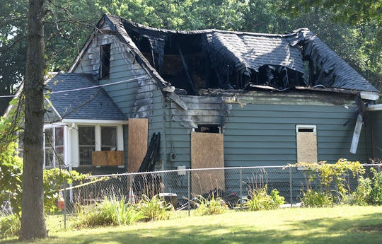Vineland firefighters battled a blaze at a home in the 1600 block of South Main Road, Vineland. July 16, 2019.