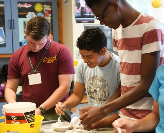 Vineland High School science teacher Vicki Yeager invited students to a special summer event in her classroom, celebrating the 50th anniversary of the Apollo 11 moon landing.