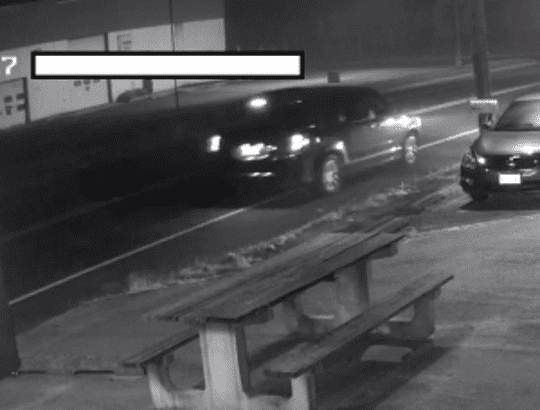 Photograph captured from surveillance video of a min-van authorities believe is linked to a 2017 double murder in Buena Borough.