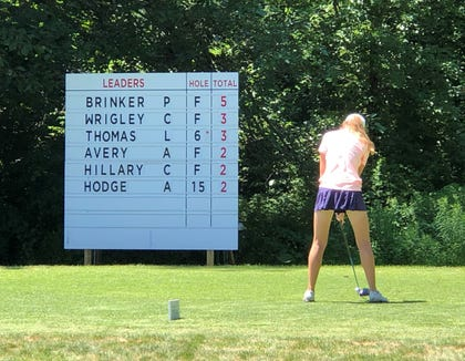 A first-round 68 had Alice Hodge on the leaderboard during the Girls Junior PGA Championship in Hartford, Conn.