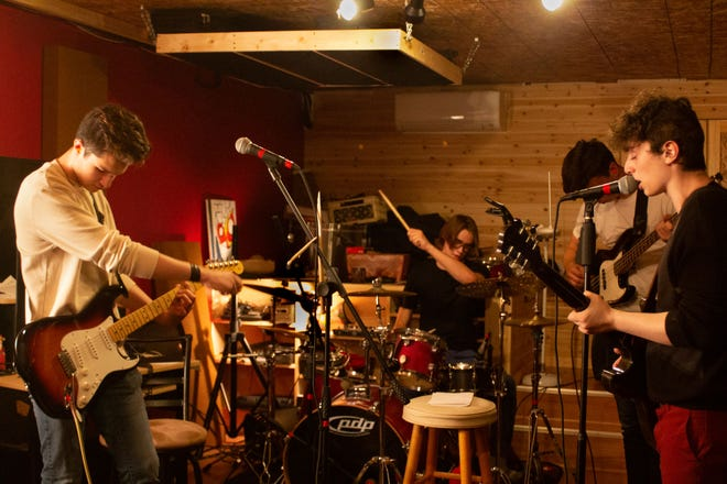 The band Sansha Blue, who'll be debuting a new album in Brewster on July 27