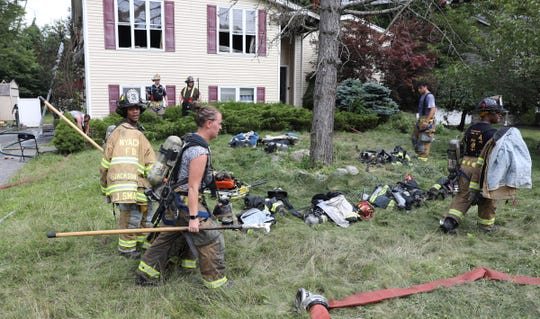 Multiple fire companies extinguish a house fire at 46 Forshay Rd in Ramapo on Wednesday, July 17, 2019.