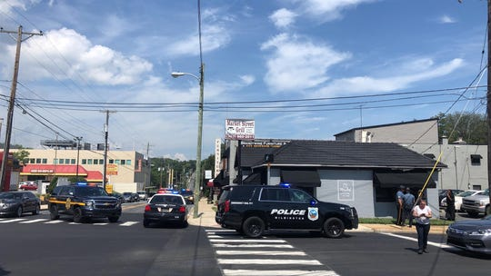 Two people were shot Thursday afternoon inside the Market Street Grill, located on the corner of North Market Street and Lea Boulevard.