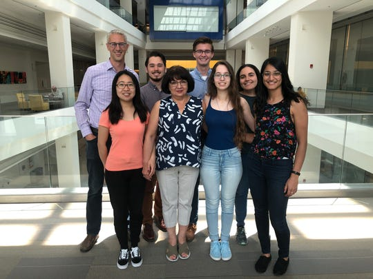 Pictured second from left on the back row, Matthew Mitchell, a junior chemistry major from nearby Henrietta, had the chance this summer to work as an intern at the National Institutes of Health near Washington, D.C.