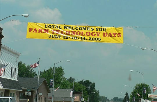 Loyal in Clark county welcomes Farm technology Days in 2005.