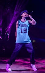 """Wiz Khalifa performs onstage during the """"Decent Exposure"""" tour at Northwell Health at Jones Beach Theater on July 16, 2019 in Wantagh, New York."""