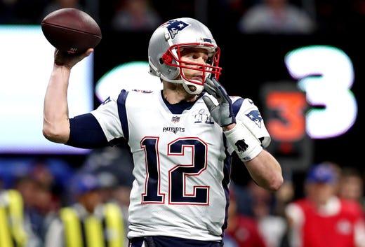 Tom Brady (football), 41- active Matthew Emmons-USA TODAY Sports