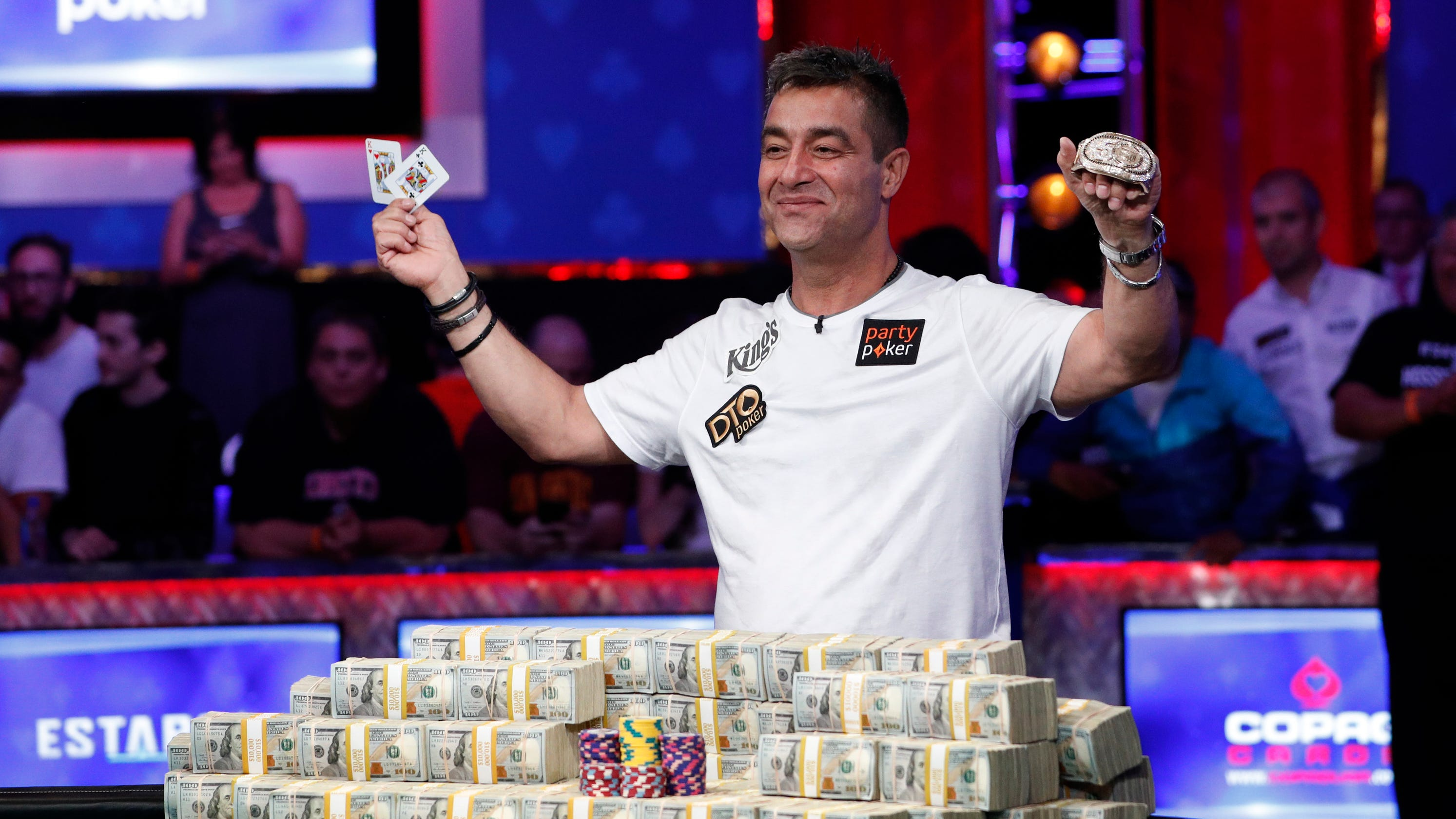 Hossein Ensan wins $10 million in prize money for World Series of Poker victory