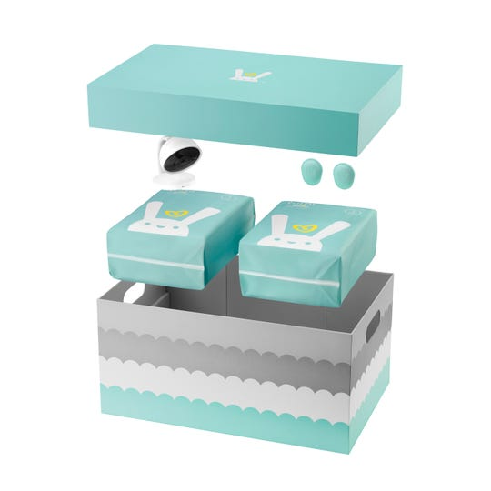 Each activity sensor attaches easily to a velcro-like patch on the bottom of each Lumi by Pampers diaper and has a battery life of about three months. Pampers recommends that the sensors be used for newborn to 12-month-old babies.