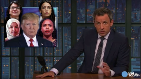 Comics slam Trump's racist tweets in Best of Late Night