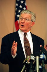 Former San Francisco District Attorney Terence Hallinan, shown here in a 1997 photo, was a dominant force in the office until city attorney Kamala Harris upset him in her first race for public office in 2003.