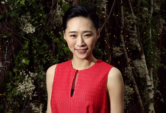 In this May 21, 2019, photo actress Wu Ke-xi poses for portrait photographs at the 72nd international film festival, Cannes, southern France. Wu Ke-xi wrote a screenplay inspired by the scandal involving U.S. producer Harvey Weinstein.