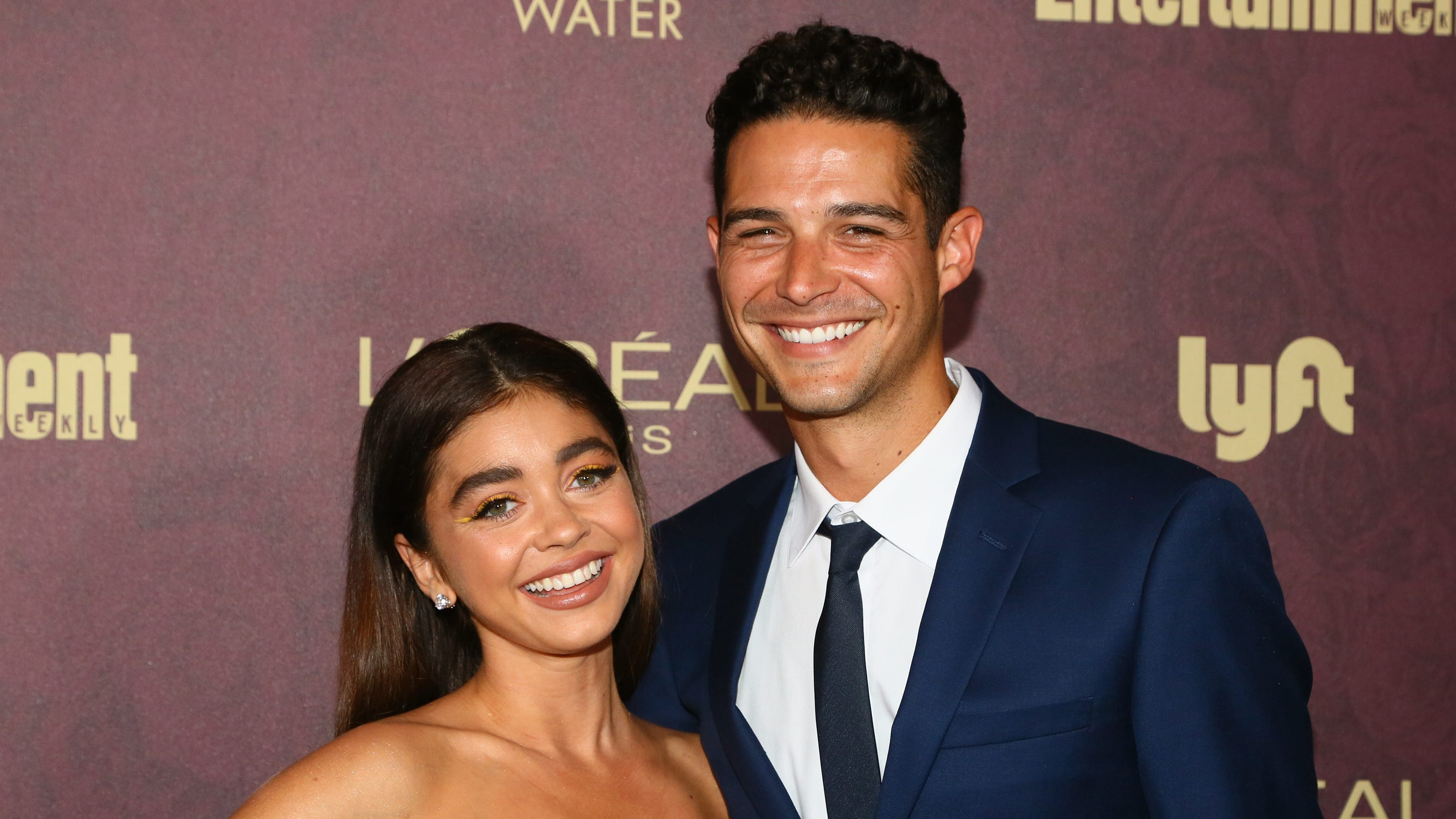 Sarah Hyland is engaged to 'Bachelorette' alum Wells Adams after meeting on social media